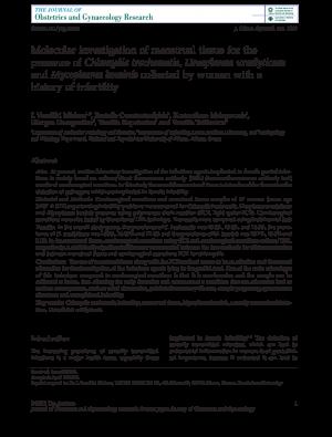 Παρουσία μικροοργανισμών στις γυναίκες (Michou-et-al)